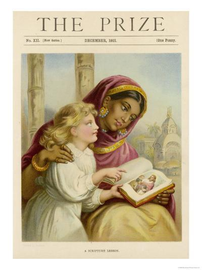 Little White Girl Teaches an Asian Woman About Jesus--Giclee Print