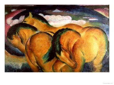 Little Yellow Horses, 1912-Franz Marc-Giclee Print