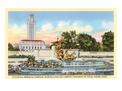 Littlefield Fountain, University of Texas, Austin--Art Print