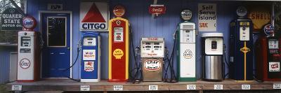 Littleton Historic Gas Station, New Hampshire, USA-Walter Bibikow-Photographic Print