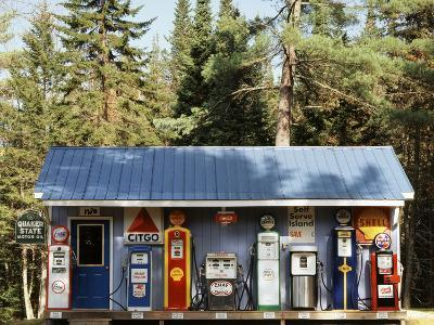 Littleton Historic Gas Station, New Hampshire, USA-Walter Bibikow-Photographic Print