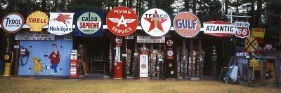 Littleton Historic Gas Tanks and Signs, New Hampshire, USA-Walter Bibikow-Photographic Print
