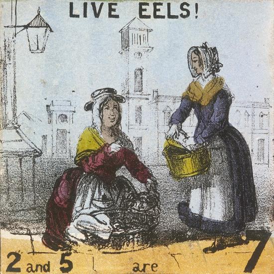 Live Eels!, Cries of London, C1840-TH Jones-Giclee Print
