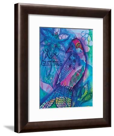 Live Gratitude-Pam Varacek-Framed Art Print