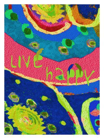 Live Happy-Lisa Weedn-Giclee Print