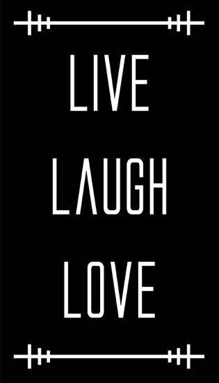 Live Laugh Love - Black-Color Me Happy-Art Print