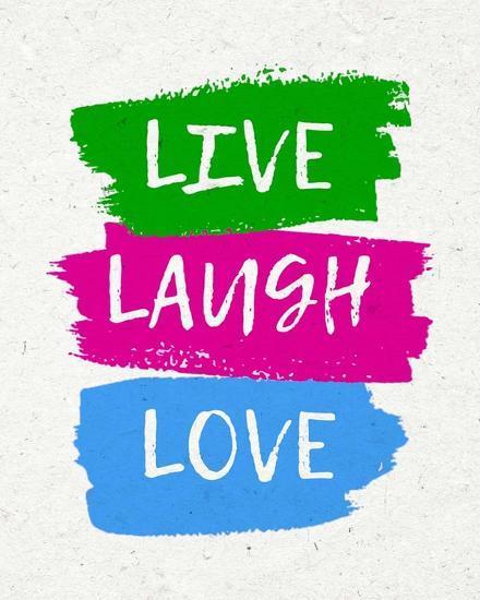 Live Laugh Love-Bold-Color Me Happy-Art Print