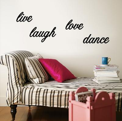 Live, Laugh, Love, Dance--Wall Decal