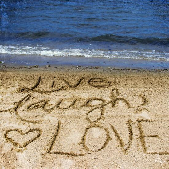 Live Laugh Love in the Sand-Kimberly Glover-Photographic Print