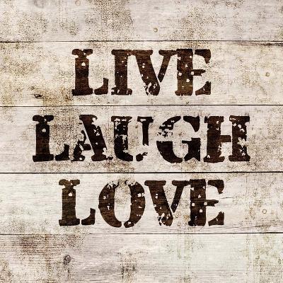 Live Laugh Love In Wood-Color Me Happy-Art Print