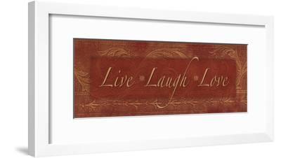 Live Laugh Love - red-Stephanie Marrott-Framed Art Print