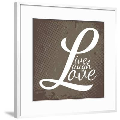 Live Laugh Love-arenacreative-Framed Art Print