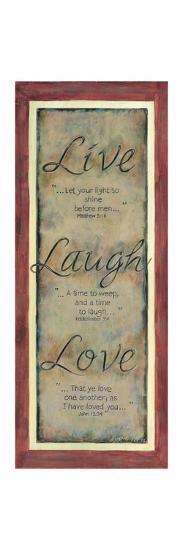 Live Laugh Love-Karen Tribett-Art Print