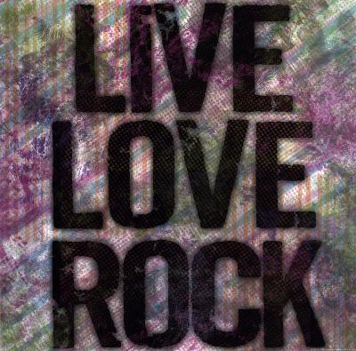 Live Love Rock-Louise Carey-Art Print