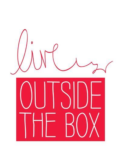 Live Outside the Box-Brett Wilson-Art Print
