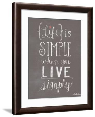 Live Simply-Katie Doucette-Framed Art Print