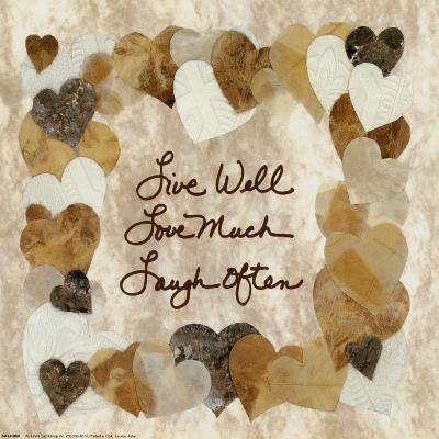 Live Well, Love Much, Laugh Often-Lauren Hallam-Art Print