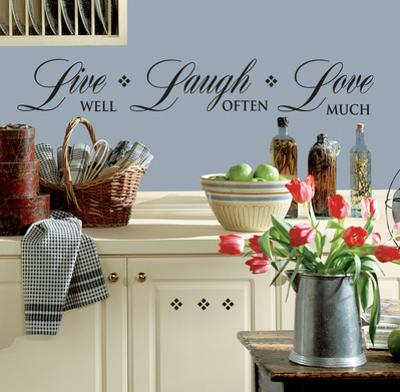 Live Well-Love Often-Love Much Peel & Stick Single Sheet