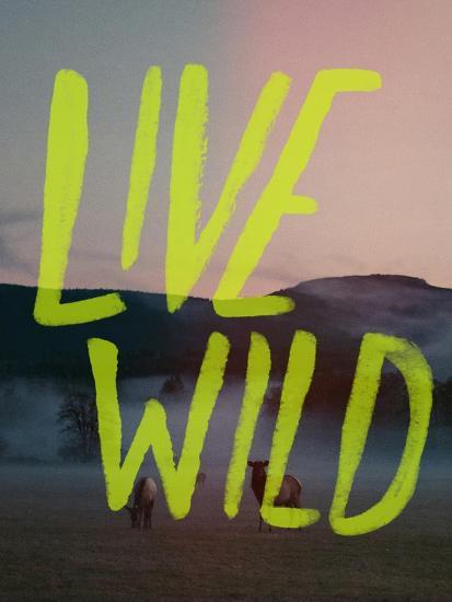 Live Wild Elk-Leah Flores-Giclee Print
