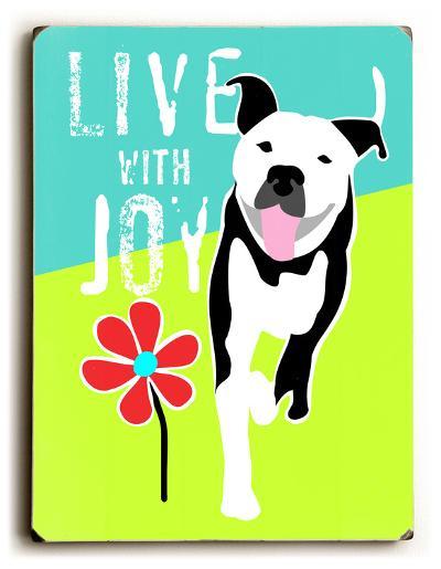 Live with Joy 2-Ginger Oliphant-Wood Sign