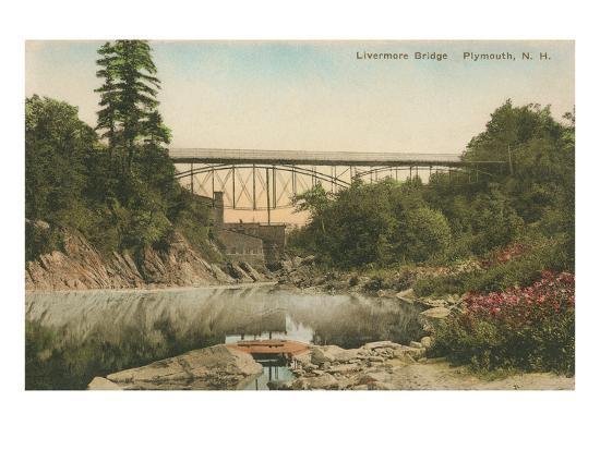 Livermore Bridge, Plymouth, New Hampshire--Art Print