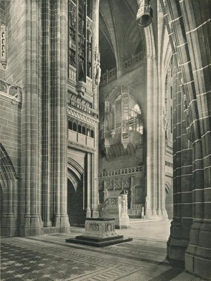Liverpool Cathedral: General View from Memorial Transept. Architect, Sir G. Gilbert Scott, 1924-Unknown-Giclee Print