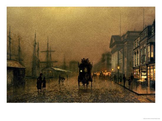 Liverpool Docks-John Atkinson Grimshaw-Giclee Print