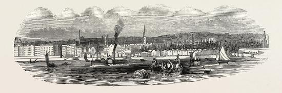 Liverpool, from Woodside, in 1846, UK--Giclee Print