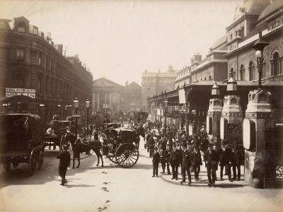 Liverpool Street Station, London, C.1885--Photographic Print