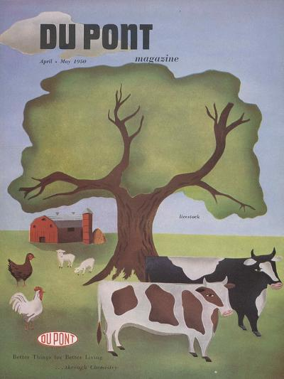 Livestock, Front Cover of 'The Du Pont Magazine', April-May 1950--Giclee Print