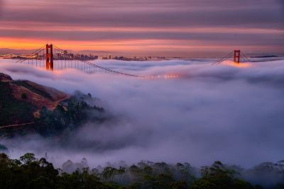 Living in this Dream of Fog and Light, Golden Gate Bridge, San Francisco-Vincent James-Photographic Print