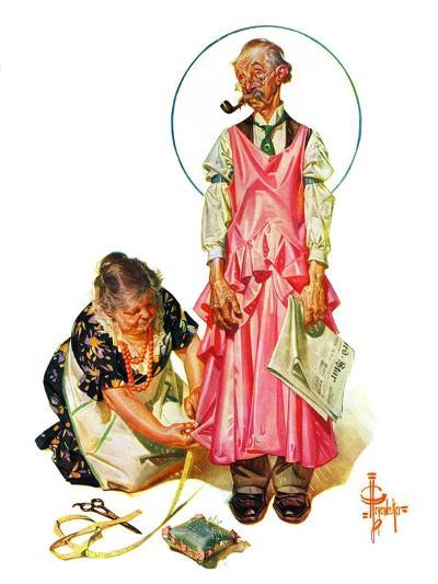 """Living Mannequin,""March 5, 1932-Joseph Christian Leyendecker-Giclee Print"