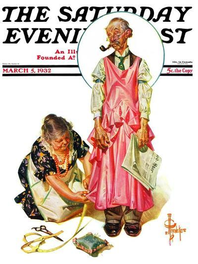 """""""Living Mannequin,"""" Saturday Evening Post Cover, March 5, 1932-Joseph Christian Leyendecker-Giclee Print"""
