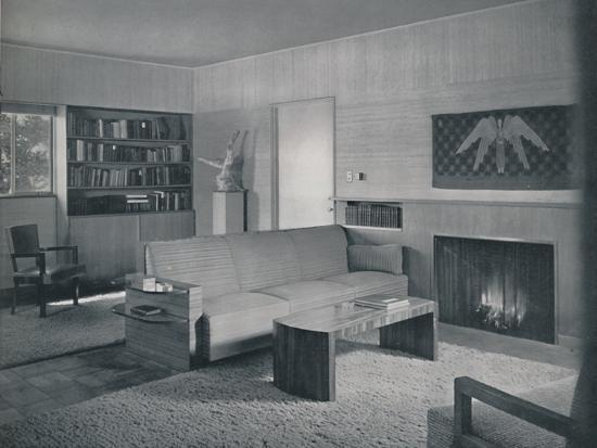 'Living room designed by Honor Easton and Alyne Whalen in a house in Los Angeles', 1942-Unknown-Photographic Print