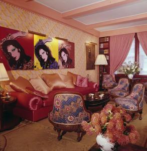 Living Room in Designer Diane Von Furstenberg's New York Apartment