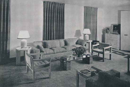 'Living room in the apartment of Samuel A. Marx', 1942-Unknown-Photographic Print