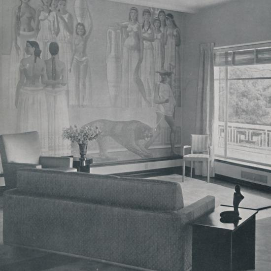 'Living room in the Cafritz residence in Georgetown, Nr. Washington D.C.', 1942-Unknown-Photographic Print