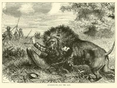 Livingstone and the Lion--Giclee Print