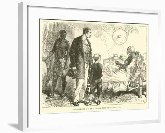 Livingstone at the Death-Bed of Sebituane--Framed Giclee Print