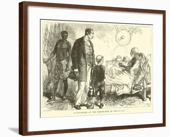 Livingstone at the Death-Bed of Sebituane--Framed Giclee Print