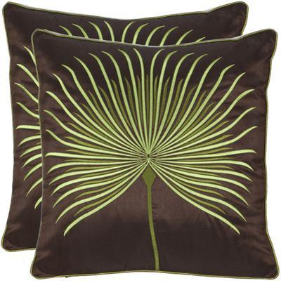 Livista Satin Pillow Pair - Coffee