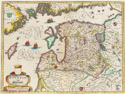 Livonia Map, Vulgo Lyefland, Atlas Maior-Joan Blaeu-Giclee Print