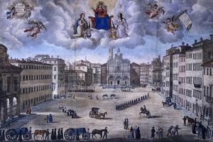 Livorno During Cholera Epidemic and Appearance of Madonna and Child