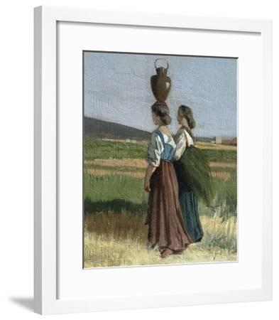 Livorno Water Carrier, 1865-Giovanni Fattori-Framed Giclee Print