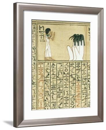 Livre des morts, papyrus de Nebqed--Framed Giclee Print
