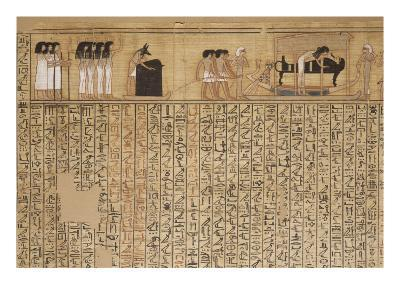 Livre des morts, papyrus de Nebqed--Giclee Print