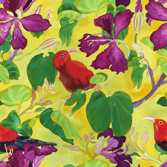 Liwis in Orchid Tree - Repeat Pattern-Carissa Luminess-Giclee Print