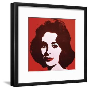 Liz, 1963 (Red)-Andy Warhol-Framed Art Print
