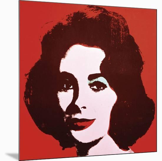 Liz, 1963 (Red)-Andy Warhol-Mounted Art Print
