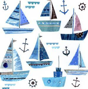 Blue Boats by Liz and Kate Pope